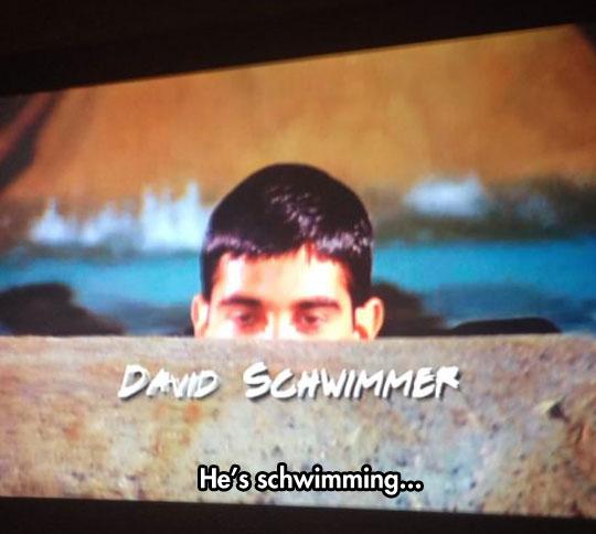 cool-David-Schwimmer-friends-swimming