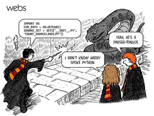 Harry Speaks Python So Well