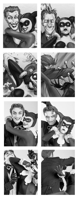 cool-Joker-Harley-Queen-drawing-picture