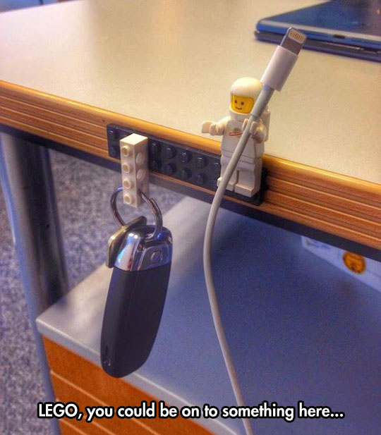 Clever Key And Cable Holder