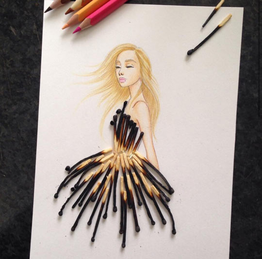 cool-art-matchstick-dress