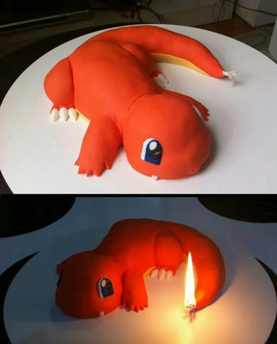 Awesome Charmander Cake