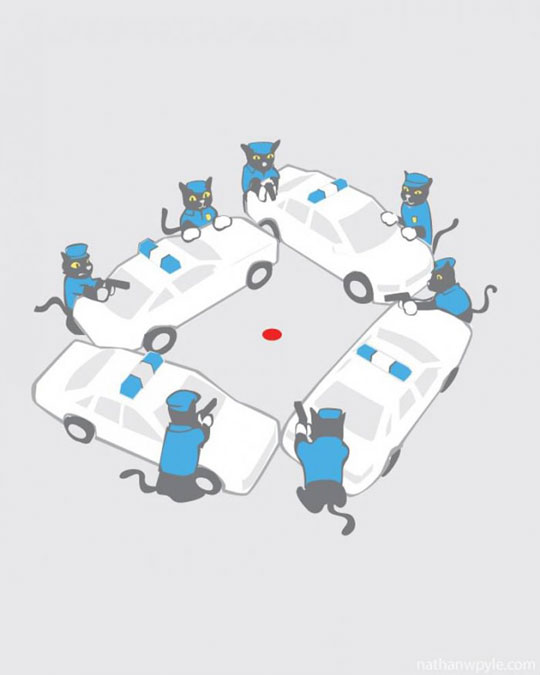 cool-cats-cartoon-police-red-dot