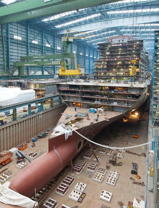 Cruise Ship During Construction
