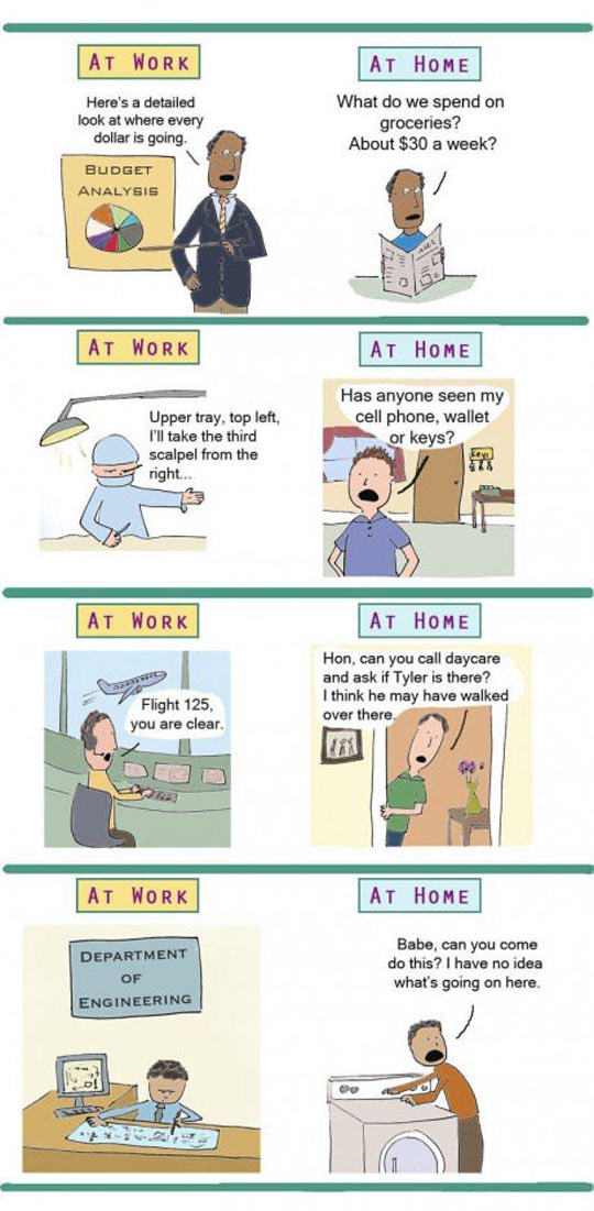 cool-differences-between-work-home-comic