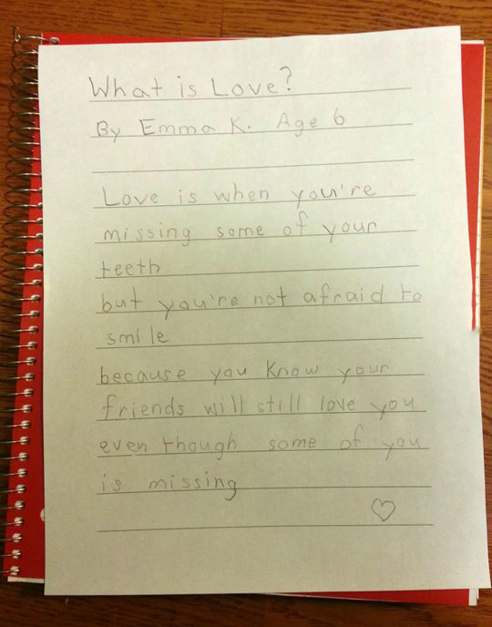Definition Of Love By A Child