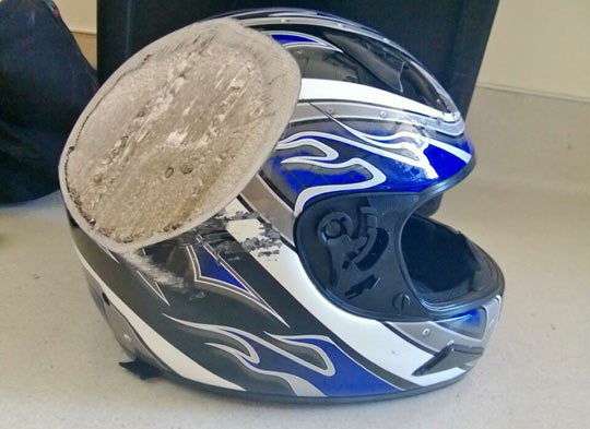 And This Is Why You Wear A Freaking Helmet