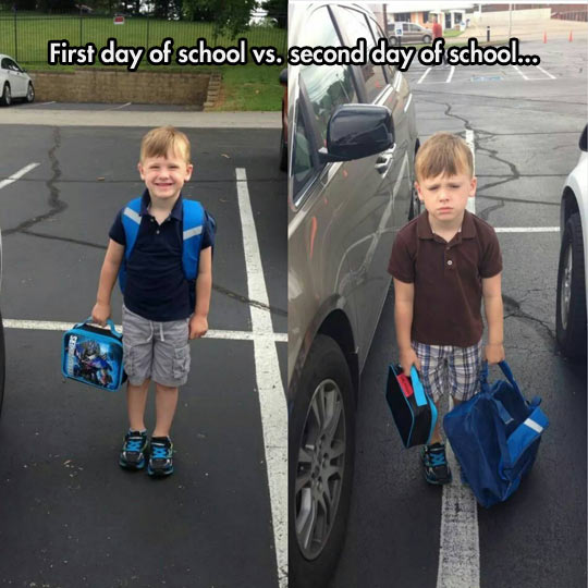 First Day Vs. Second Day