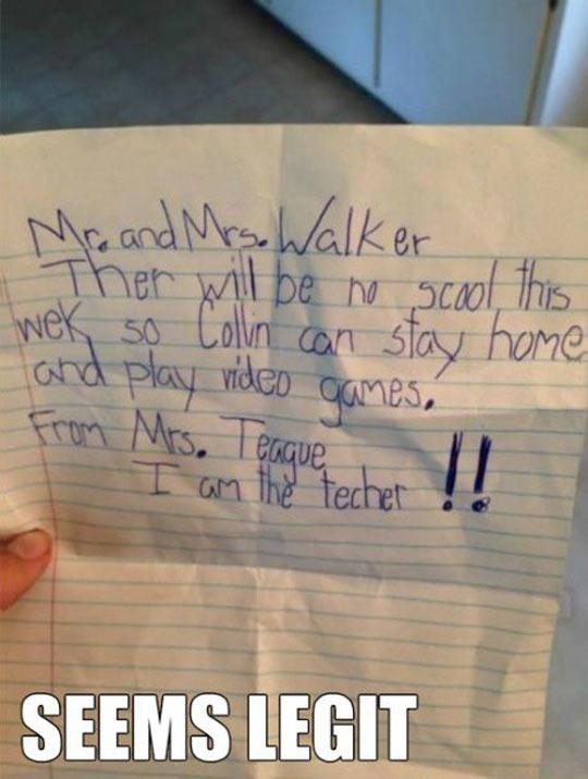 Letter From The Teacher