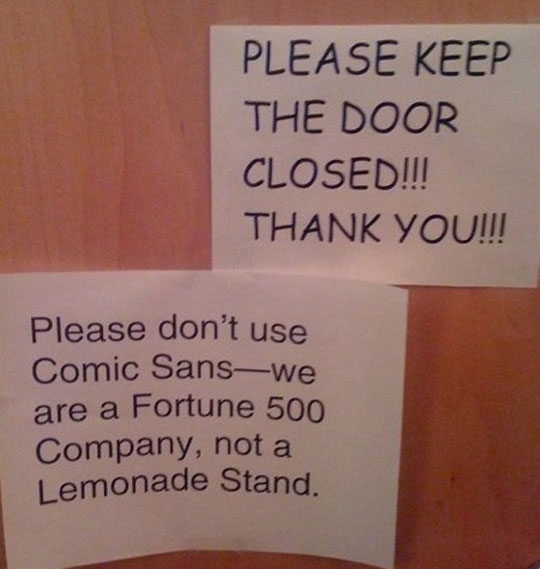 The Problem With The Comic Sans Font