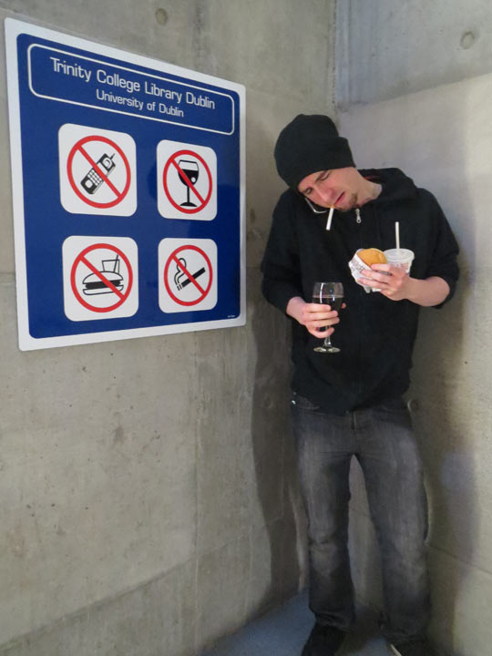 This Guy Is Breaking All The Rules At Once