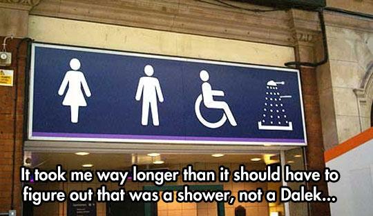 cool-subway-Dalek-sign-shower