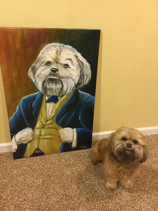 I Asked A Local Artist To Do A Painting Of My Dog