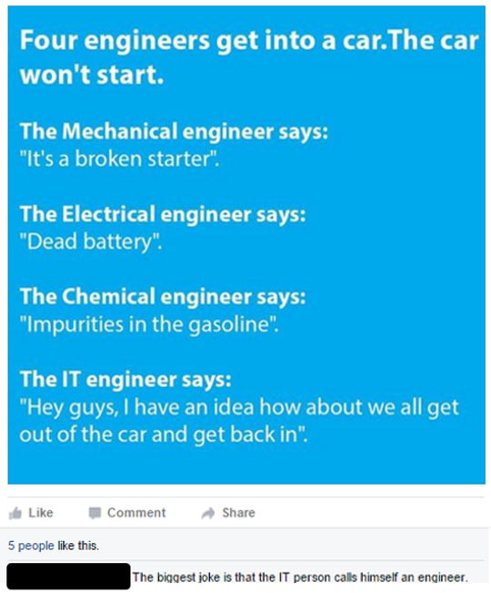 So Four Engineers Get Into A Car