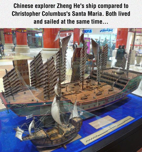 ships-Columbus-Chinese-explorer