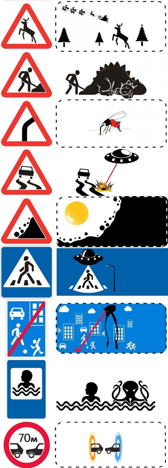 Popular Road Signs Uncropped