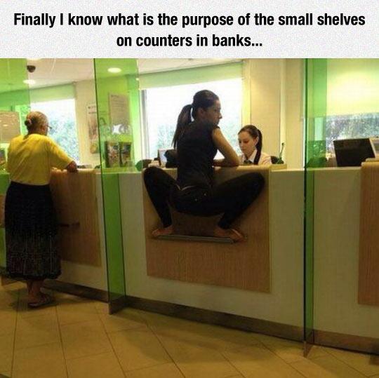 Bank Shelves Purpose