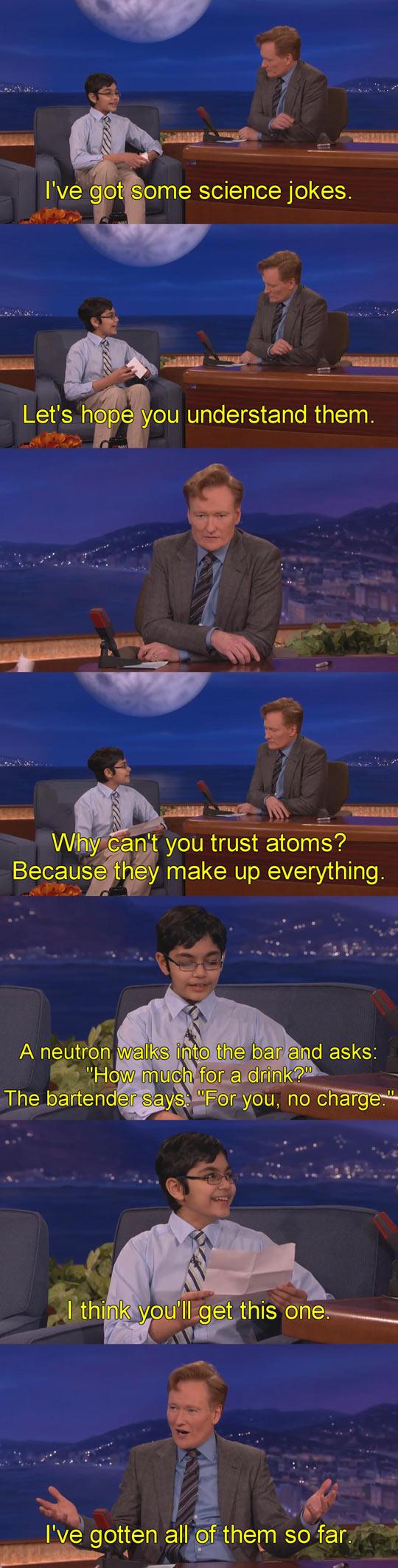 Conan Vs. Science Jokes