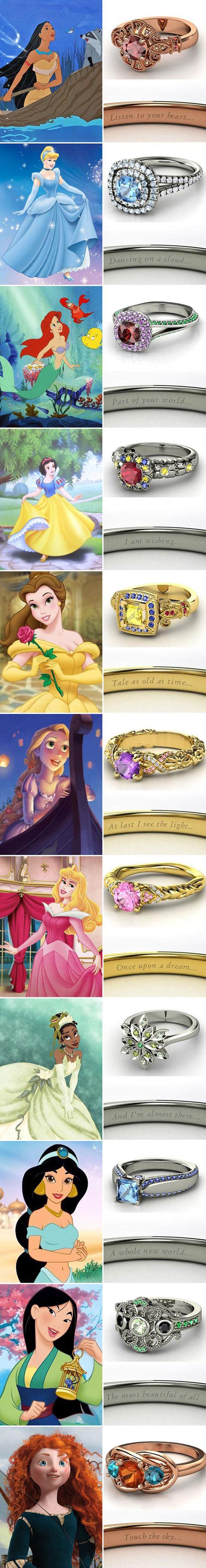 If Disney Princesses Were Rings