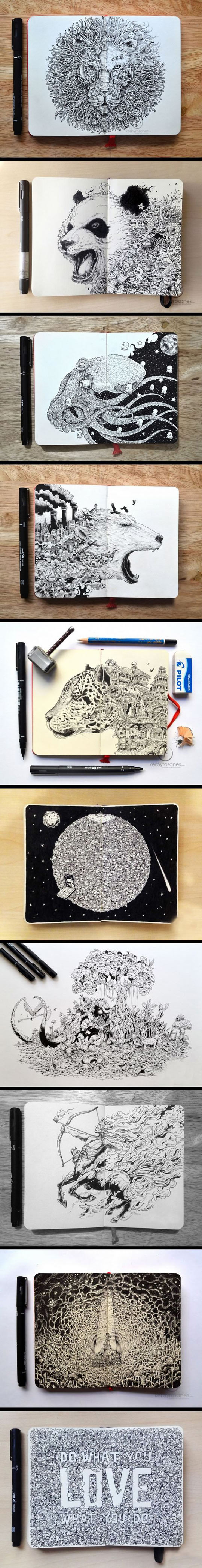 These Hyper-Detailed Drawings Are Awesome