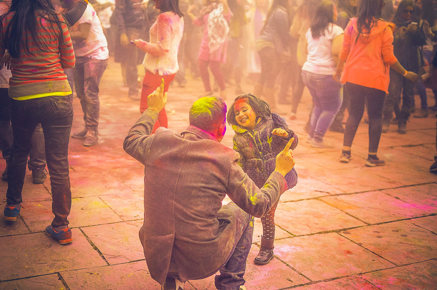 Today is Holi, the Indian festival of colour.