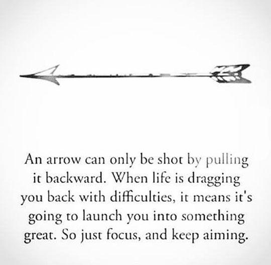 Sometimes Life Is Like An Arrow