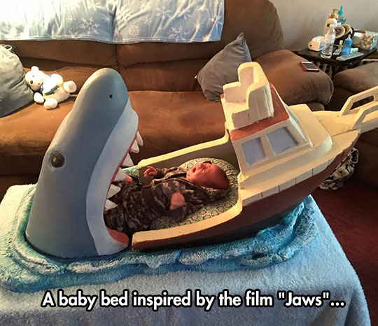 Jaws Themed Baby Bed