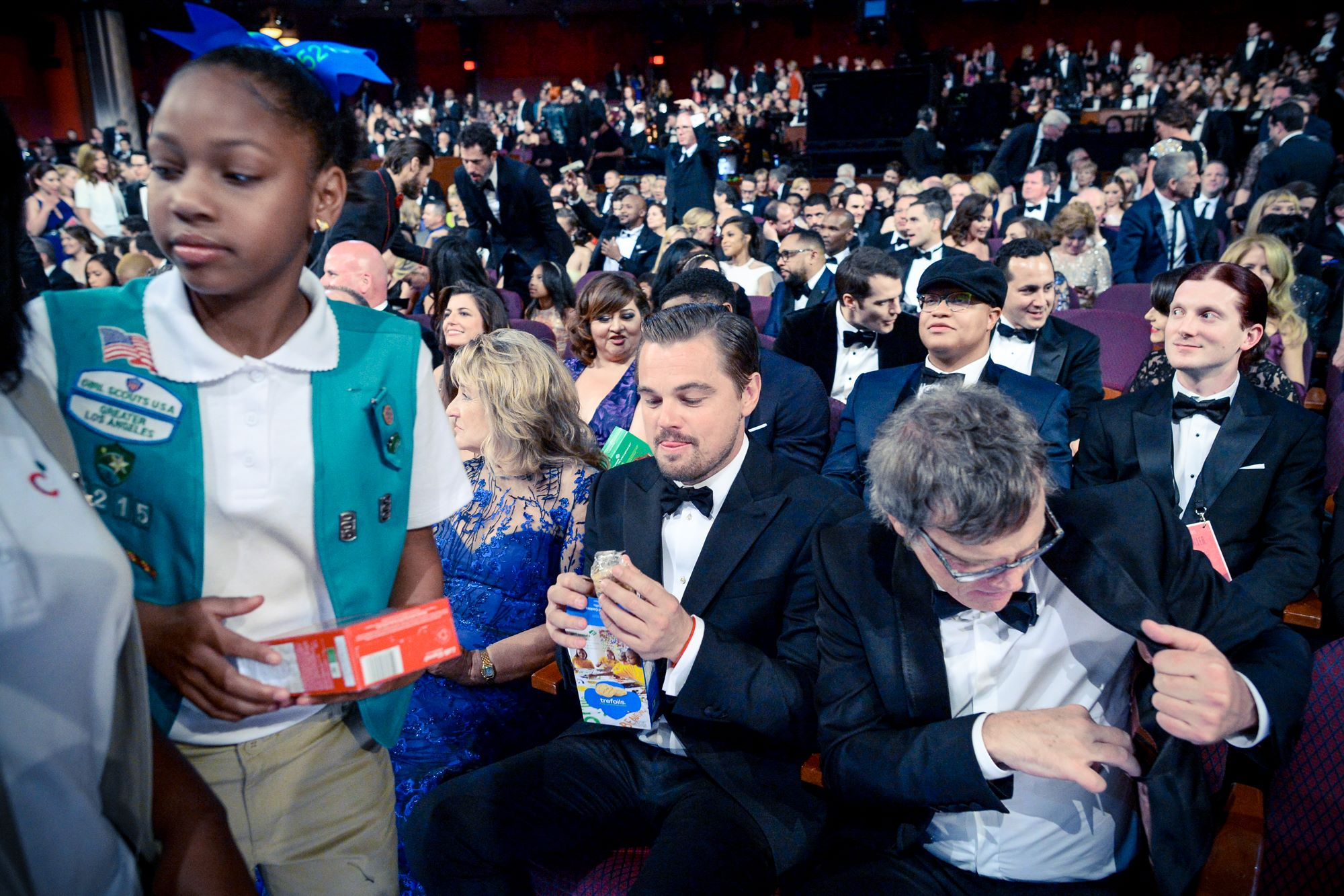 before Leo gots the Oscar, he got the cookie