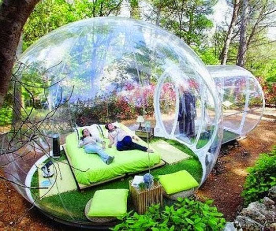 Just Imagine Watching The Rain Inside Of This Bubble