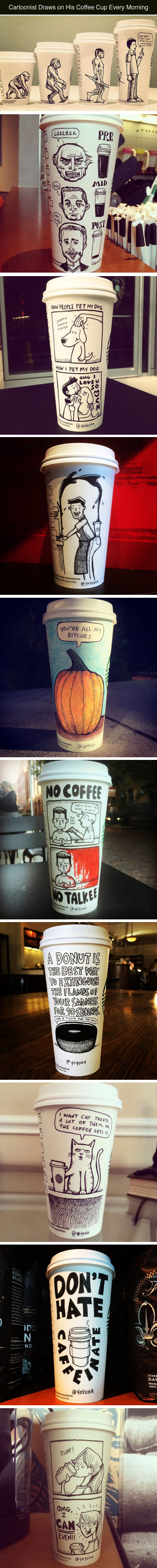 Drawing A Cup Of Coffee Every Morning