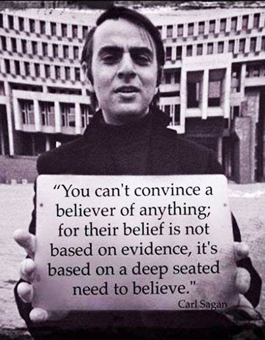 Mr. Sagan On Believers
