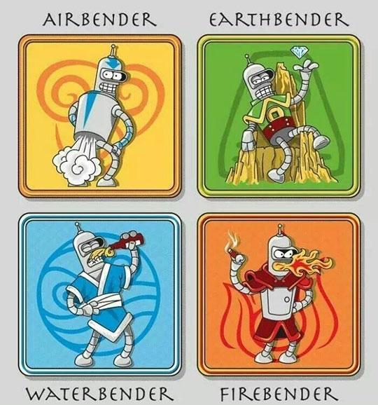 cool-Futurama-Avatar-Bender-elements