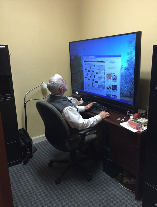 Grandpa Knows How To Buy A Monitor