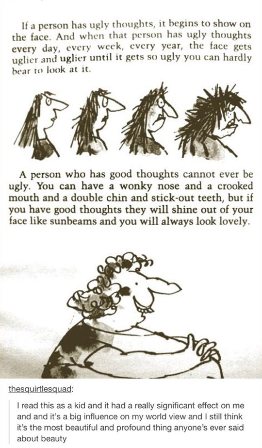 Ugly Thoughts Vs. Good Thoughts