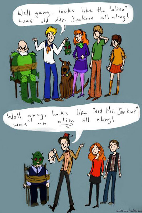 cool-cartoon-Dr-Who-Scooby-Doo