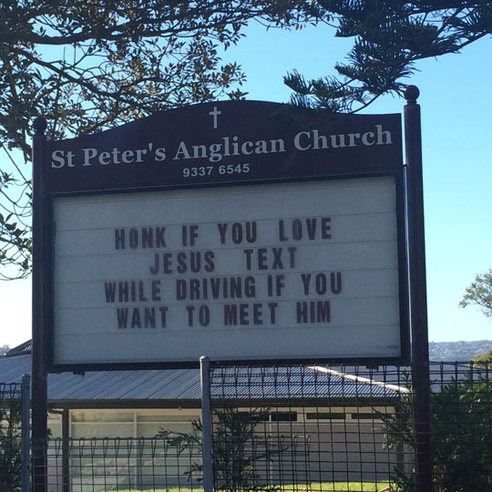 cool-church-sign-Jesus-honk-text-driving