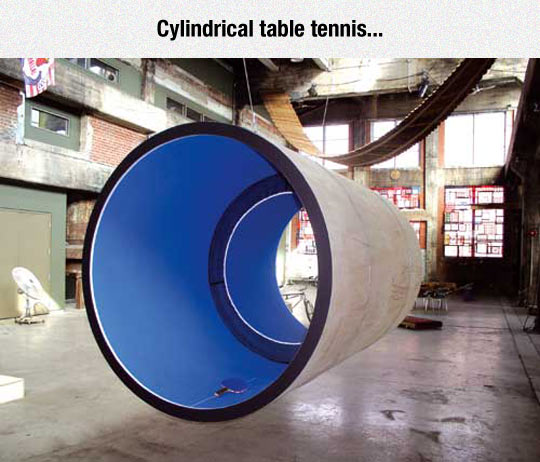 Table Tennis Taken To A Whole New Level