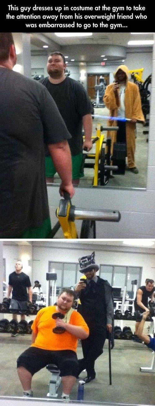 Just Helping A Friend At The Gym