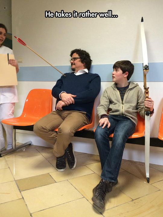 cool-father-bow-arrow-hospital