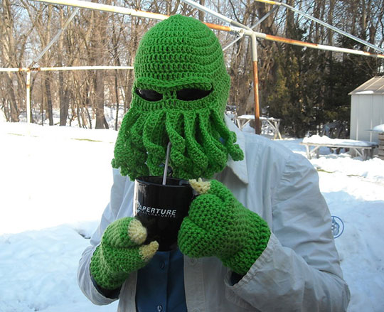 cool-knitted-Cthulhu-hat-winter