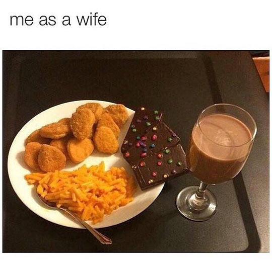 cool-men-wife-dinner-chocolate-fries