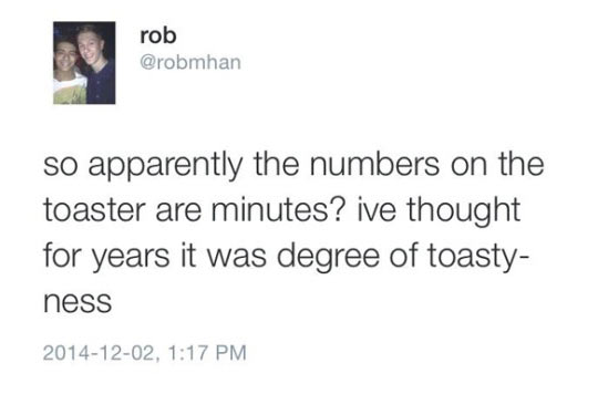 Numbers On The Toaster