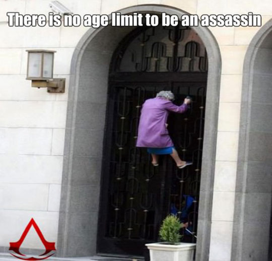 cool-old-woman-climbing-fence-assassin