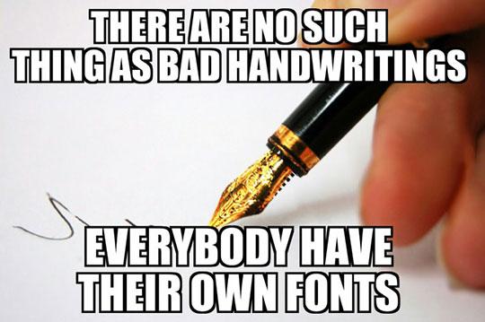 Plain Bad Handwriting