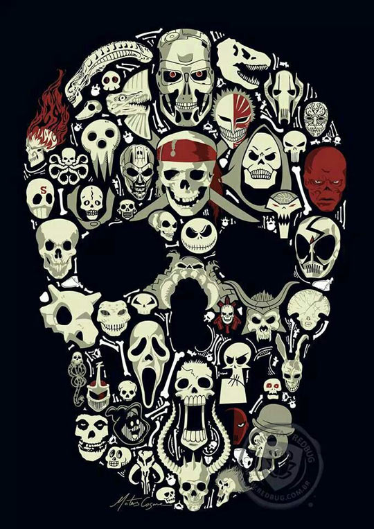 cool-poster-skull-horror-movie-characters