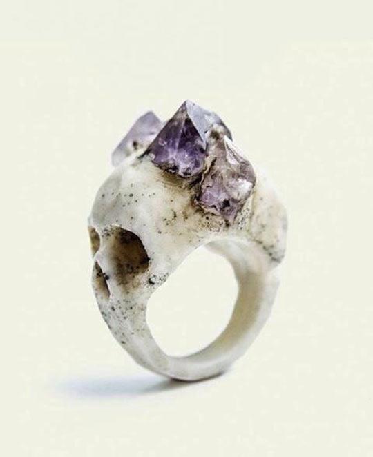 This Bone Skull Ring Is So Metal