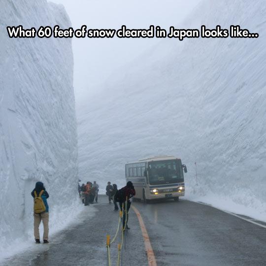 60 feet of snow in japan