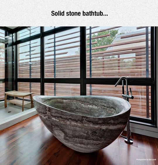 cool-solid-stone-bathtub