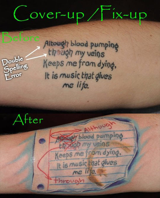How To Correctly Fix A Tattoo