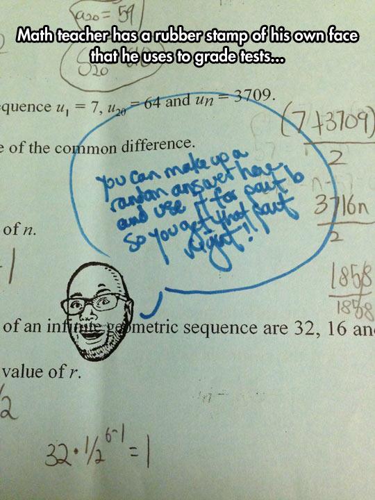 This Teacher Is Very Prepared